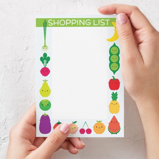5 A Day Magnetic Shopping List Pad