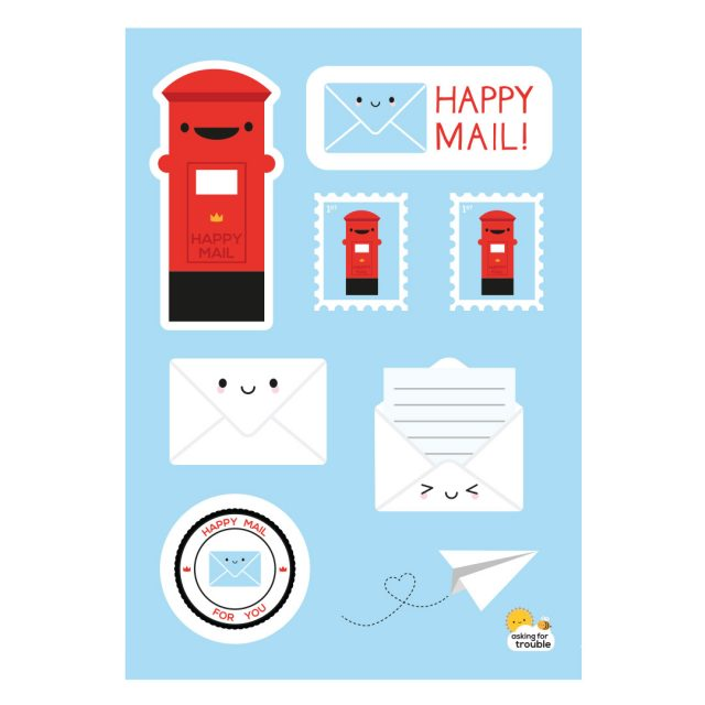 Happy Mail Kawaii Sticker Sheets