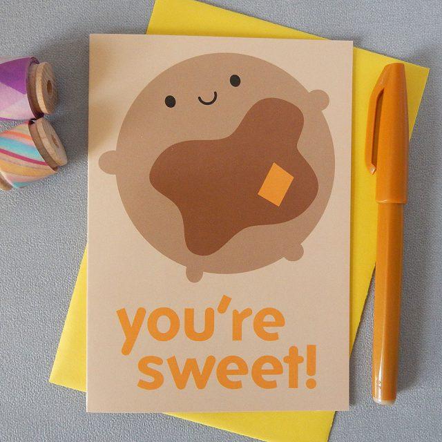 you're sweet pancake card