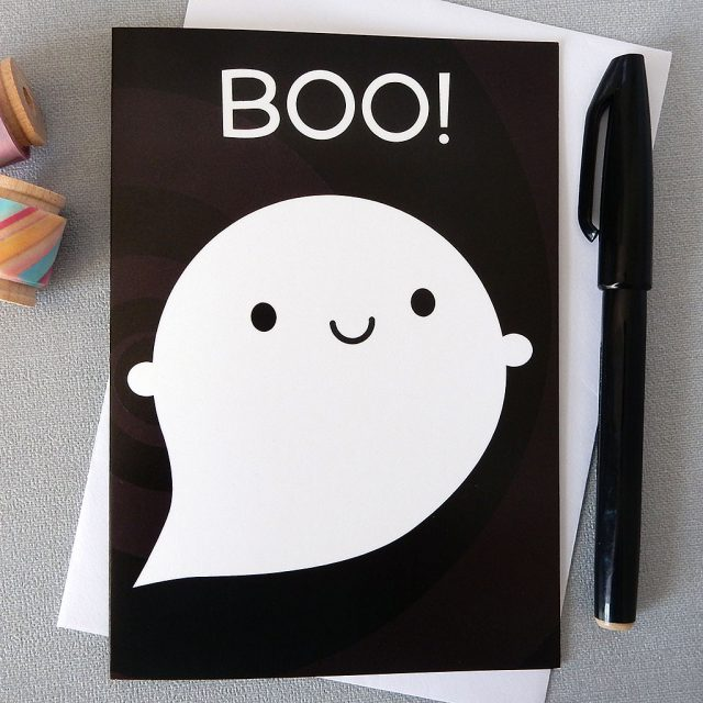boo! ghost card