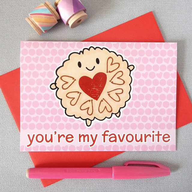 jammie dodger card