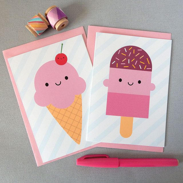 ice cream treats cards
