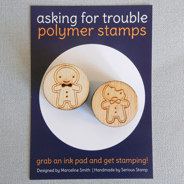 gingerbread man rubber stamps