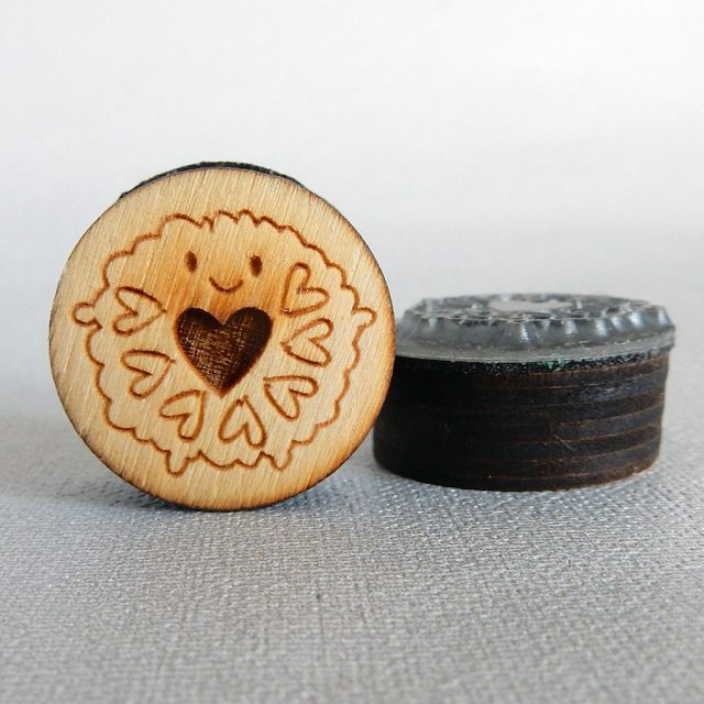 jammie dodger rubber stamp