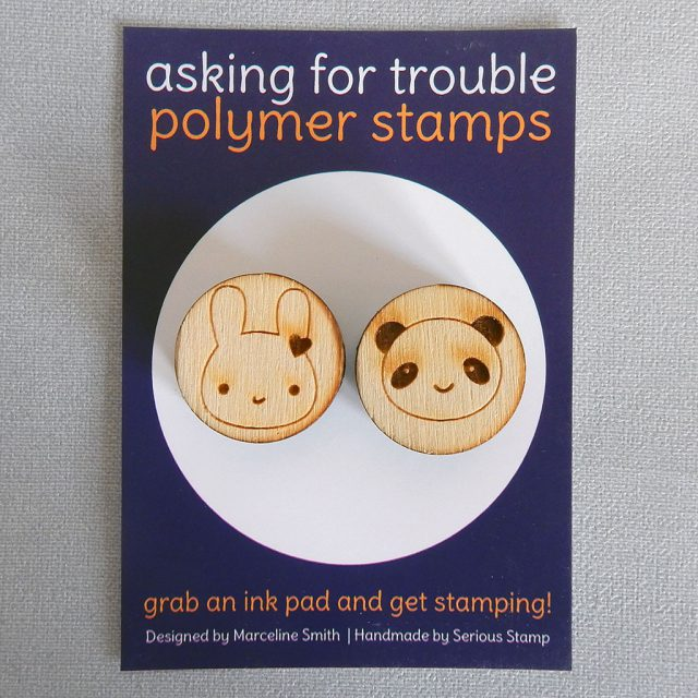 bunny & panda rubber stamps