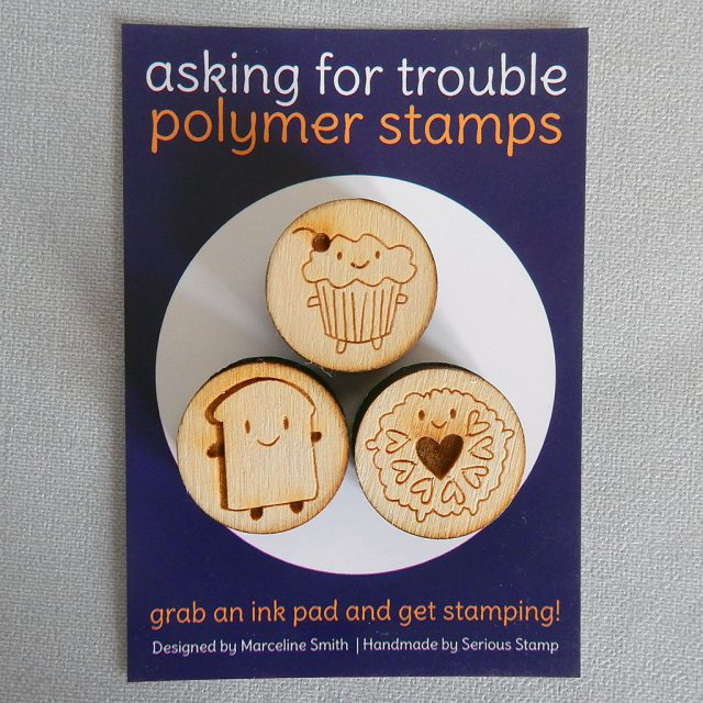 afternoon tea rubber stamps