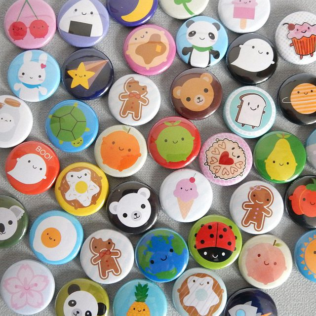 assorted kawaii badges - askingfortrouble