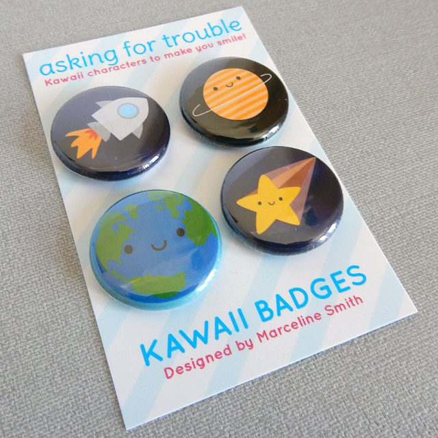 solar system badge set - askingfortrouble