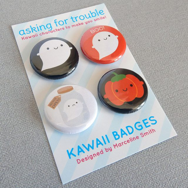 halloween badge set - askingfortrouble