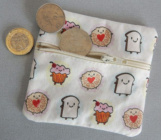 afternoon tea fabric coin purses
