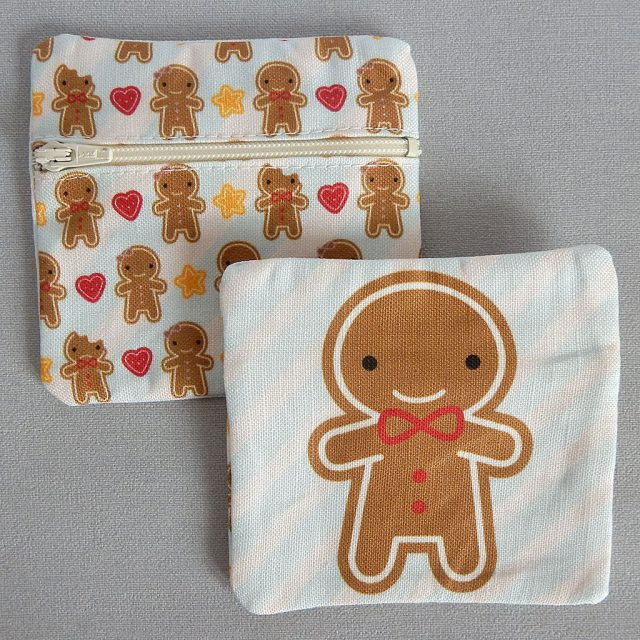 cookie cute fabric coin purses