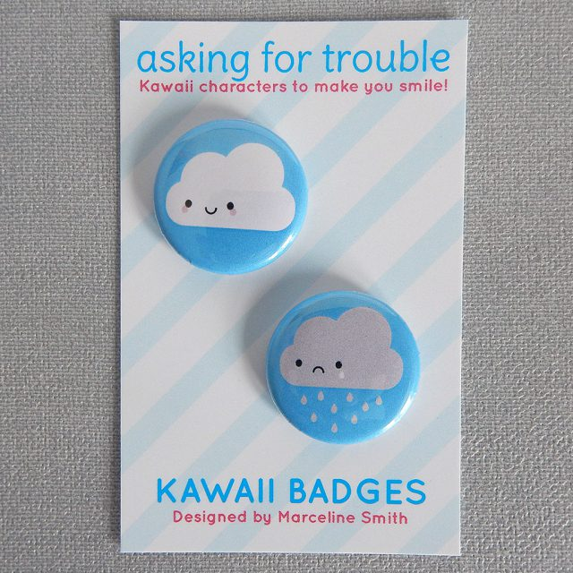 Kawaii Skies badge set