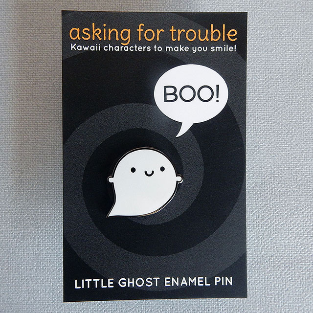 Little Ghost enamel pin