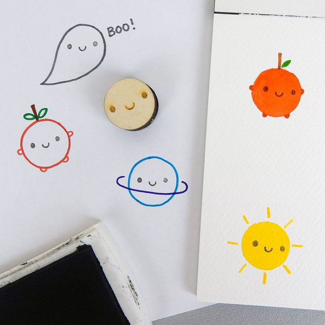 Smiley Face Polymer Stamp
