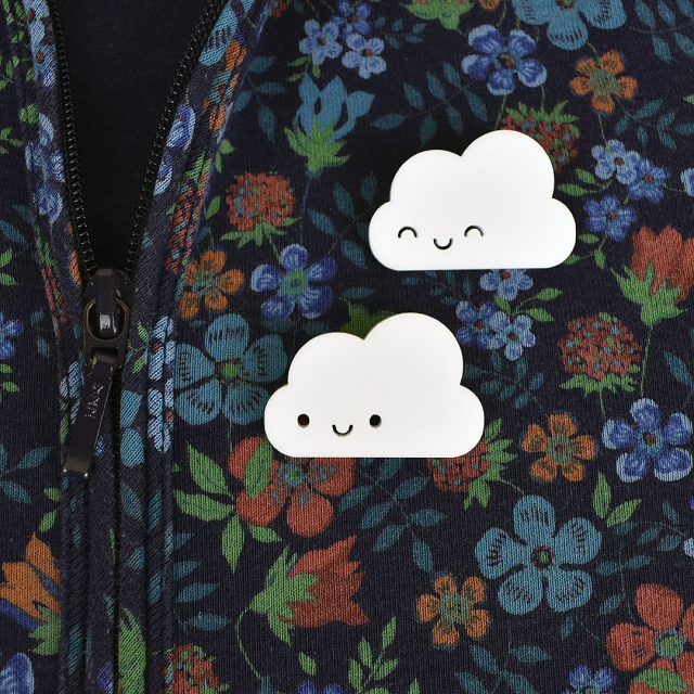 happy cloud brooches