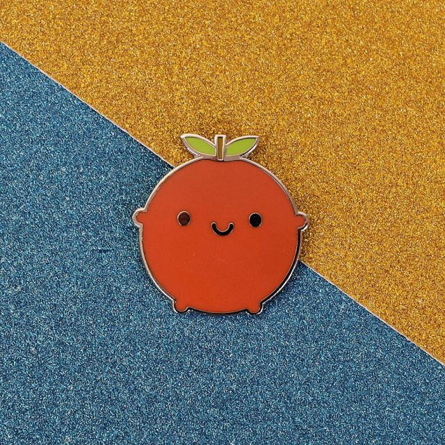 happy apple kawaii enamel pins