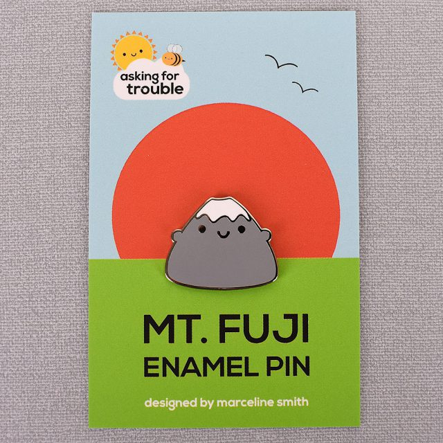 Mt Fuji kawaii enamel pins
