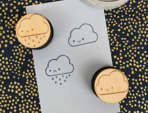 Kawaii Clouds Polymer Stamps