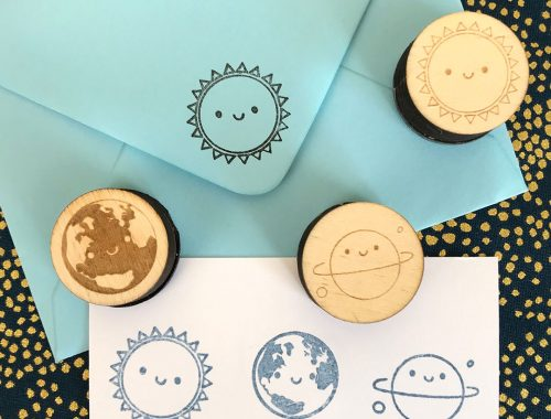 Planet Earth Polymer Stamp
