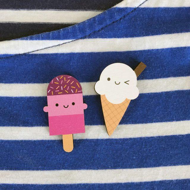 Kawaii Summer Mini Wooden Pins