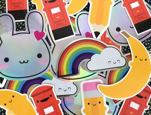 Assorted Kawaii Vinyl Stickers