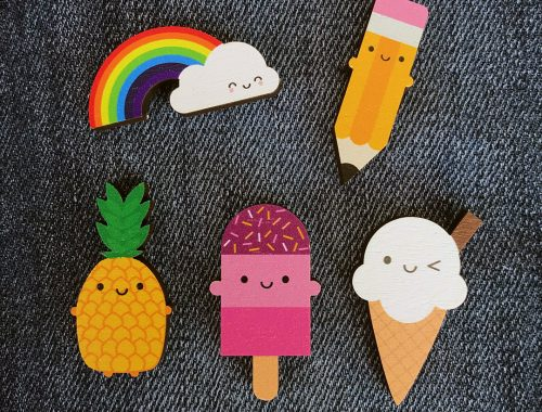 Kawaii Summer Mini Wooden Pins