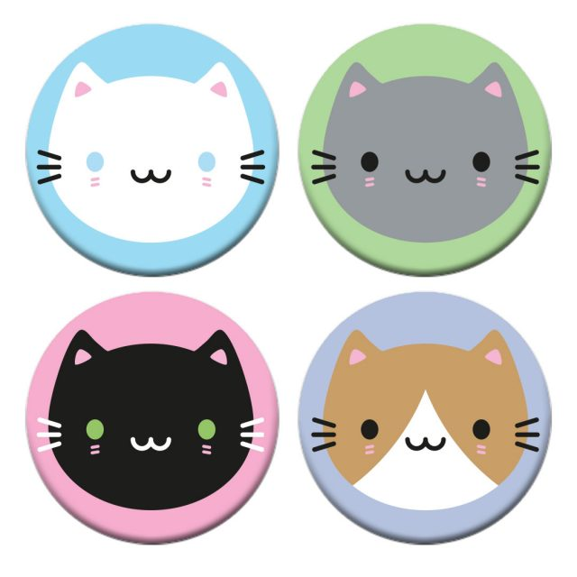 Cute Cats Badge Set