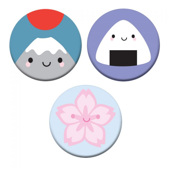 kawaii Japan badges