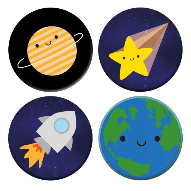 Solar System Badge Set