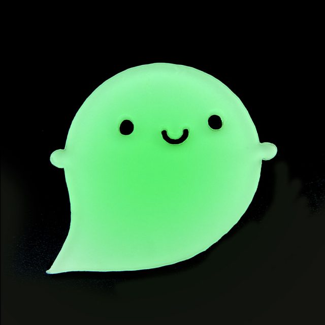 Glow in the Dark Ghost Brooch