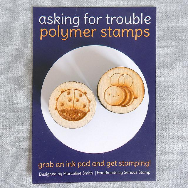 Bumblebee & Ladybird Polymer Stamps