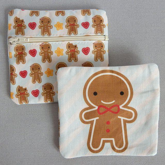 cookie cute fabric coin purses